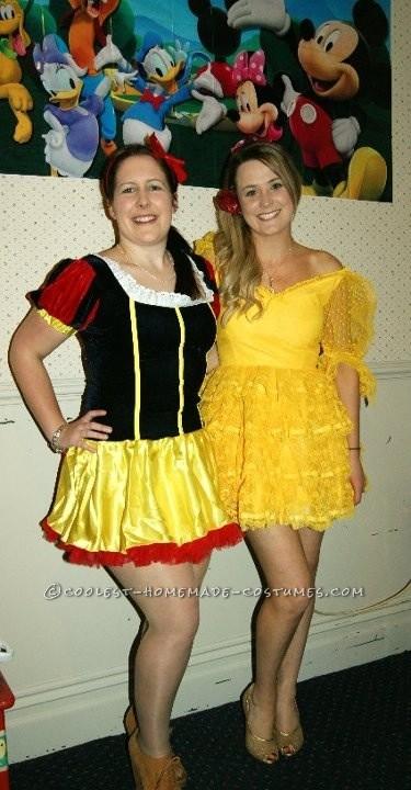 Beautiful Spray-Painted Belle Costume