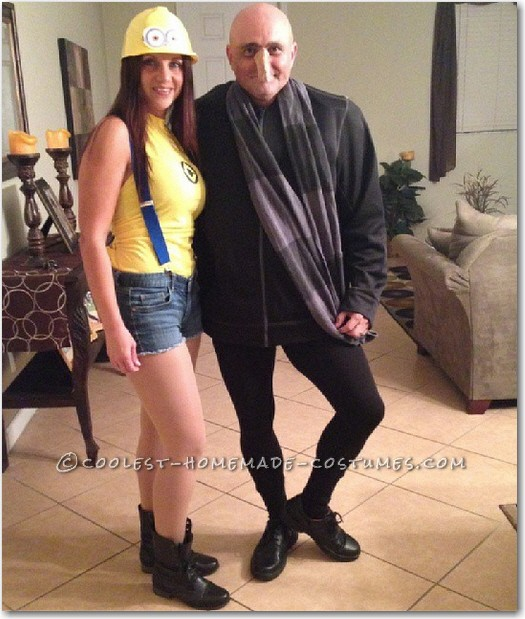 Last-Minute Gru and Sexy Minion Couple Costume | DIY Minions Costume Ideas You Have to Check Out | DIY Minions Costume | diy minion costume