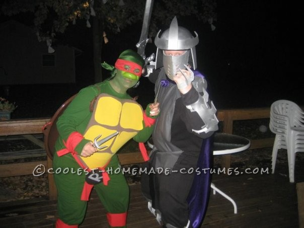original diy couple costume ninja turtle and shredder