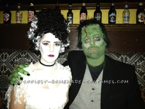 Cool DIY Couple Costume: Bride of Frankenstein and The Monster