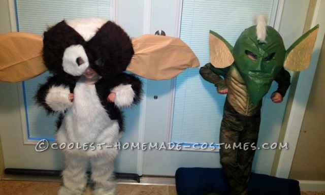 Cool Homemade Brotherly-Love Couple Costumes Gremlins-Style