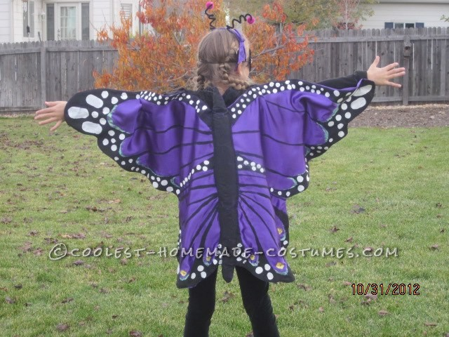 Purple Majesty Butterfly DIY Costume for a Girl