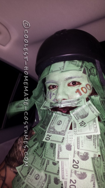 Cool Homemade Geico Money Man Costume