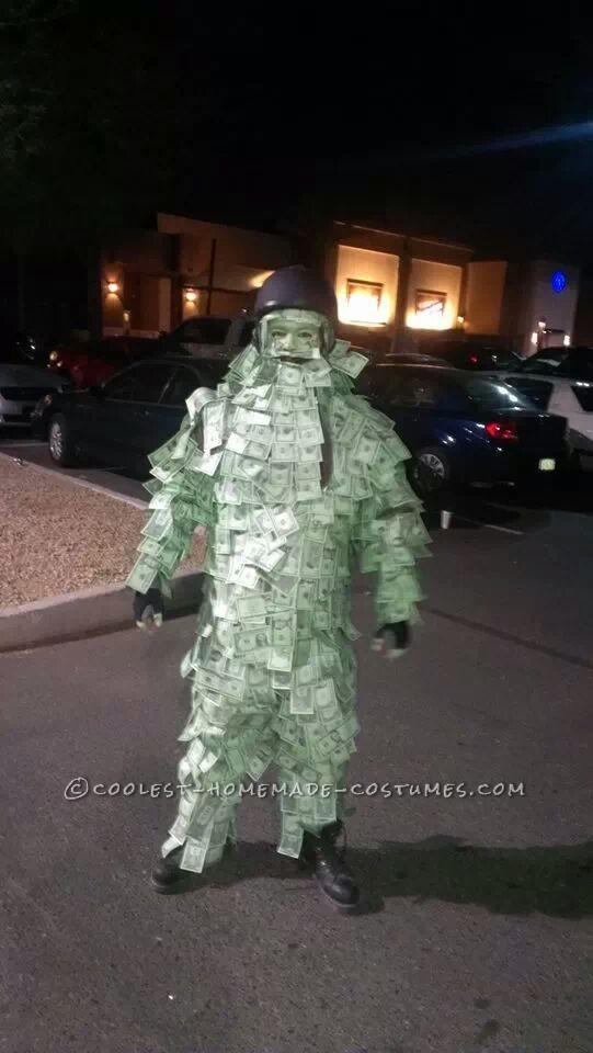 Cool Homemade Geico Money Man Costume