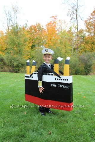 Original DIY Costume Idea for a Boy: Captain of the Titanic