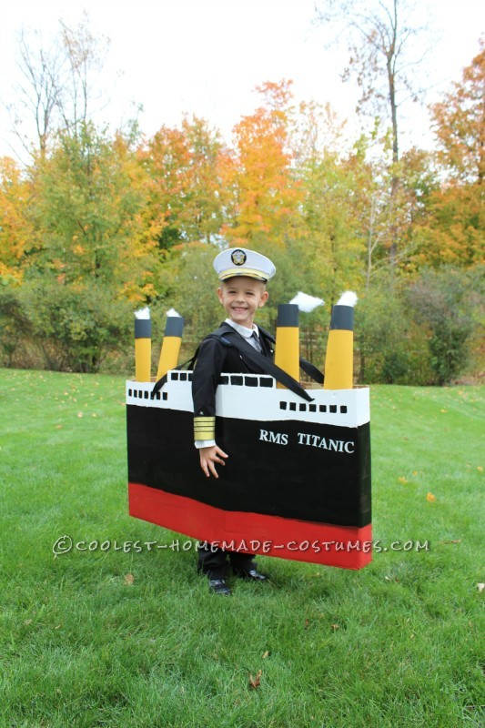 Original DIY Costume Idea for a Boy: Captain of the Titanic