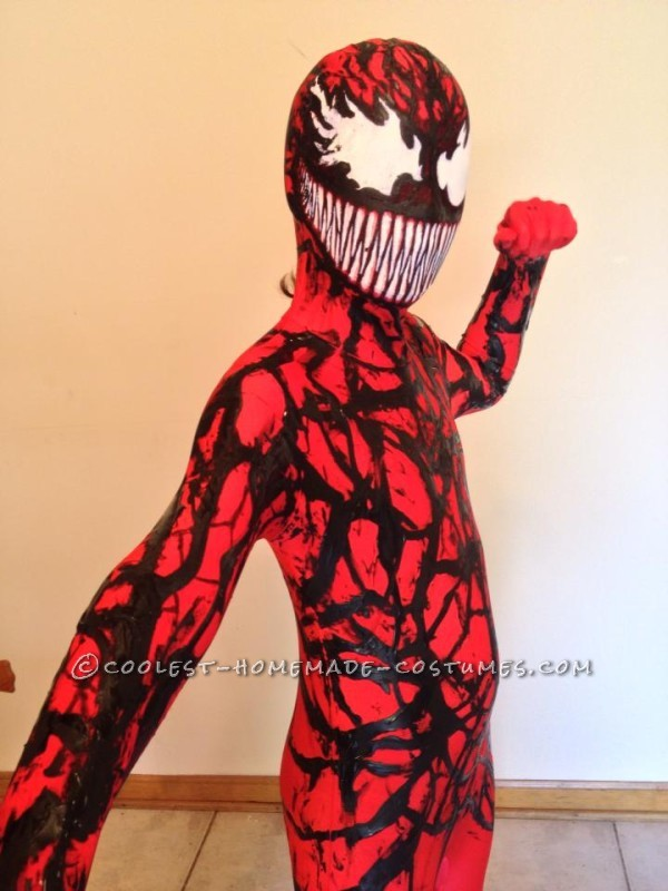 Coolest Homemade Carnage (Spiderman Villain) Costume