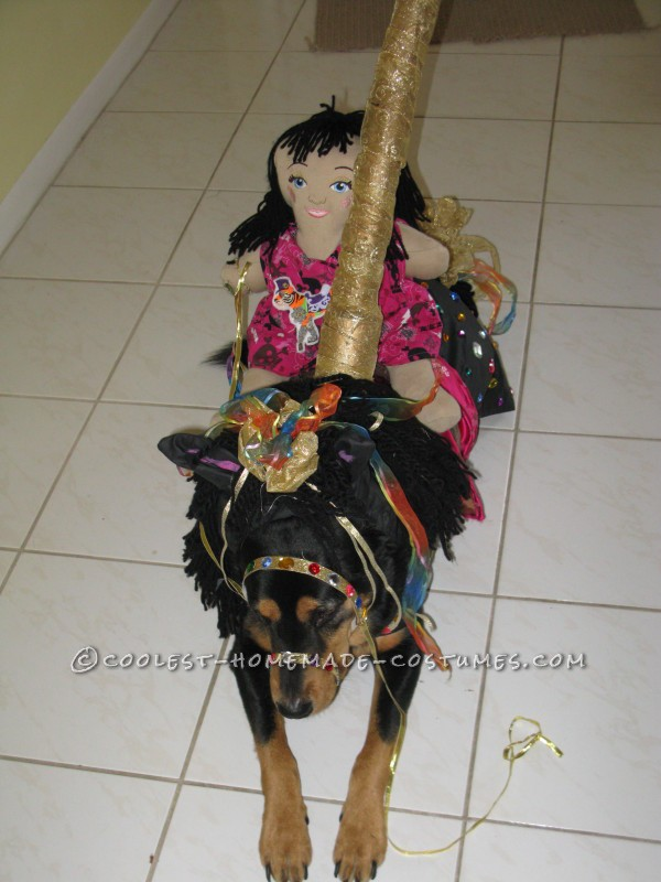 Funny Carousel Horse Costume for a Dog - 5