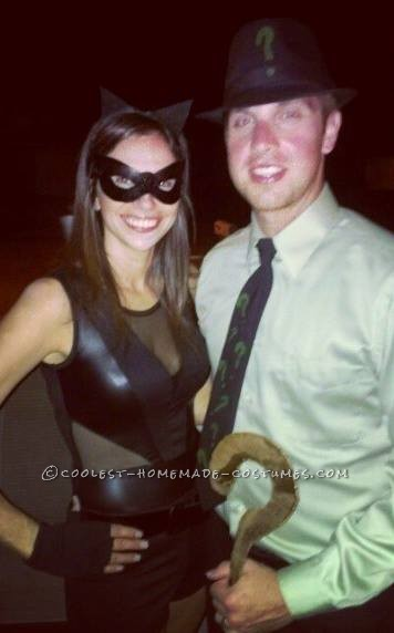 Sexy Catwoman and Riddler Homemade Couples Costume
