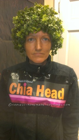 Last-Minute Original Chia Head Costume