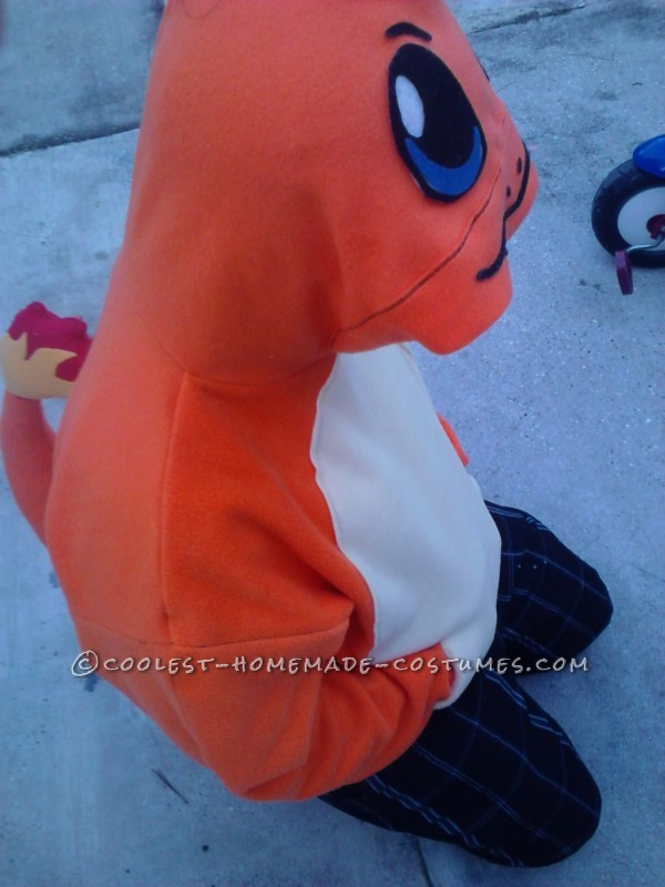 Cool DIY Charmander from Pokemon Hoodie Costume - 1