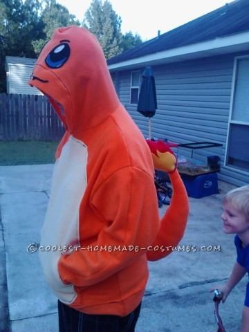 Cool DIY Charmander from Pokemon Hoodie Costume