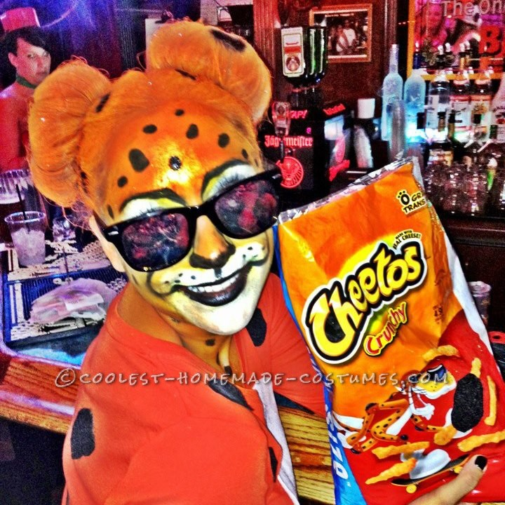 Cool Homemade Halloween Costume Idea: Chester the Cheetos Cheetah - 1