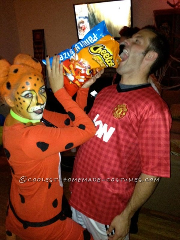 Cool Homemade Halloween Costume Idea: Chester the Cheetos Cheetah - 5