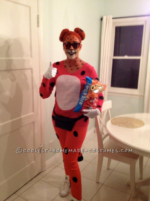 Cool Homemade Halloween Costume Idea: Chester the Cheetos Cheetah - 3