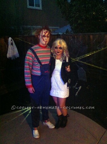 Coolest Homemade Chuckie and Bride of Chuckie Couple Costume