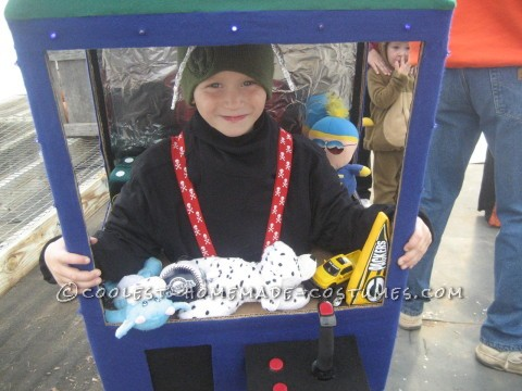 Cool Homemade Claw Machine Costume for a Boy