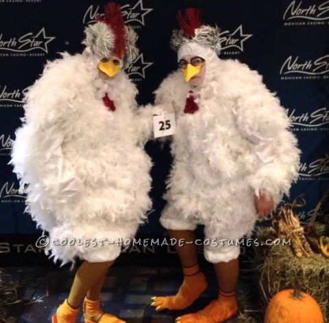 Cool Cackling Hens DIY Couple Costume