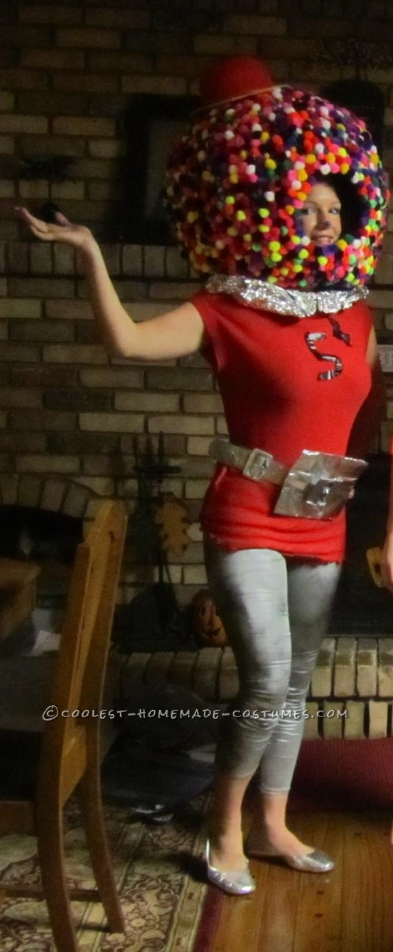 Coolest Homemade Life-Sized Gumball Machine Costume