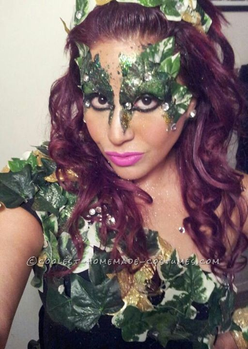 Cool and Simple Homemade Poison Ivy Costume