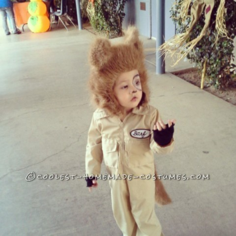 Coolest Homemade Barf Costume for a Toddler (from Spaceballs)
