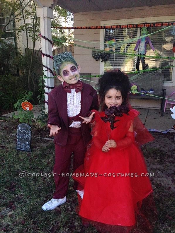 Coolest Beetlejuice and Lydia Child Couple Costume