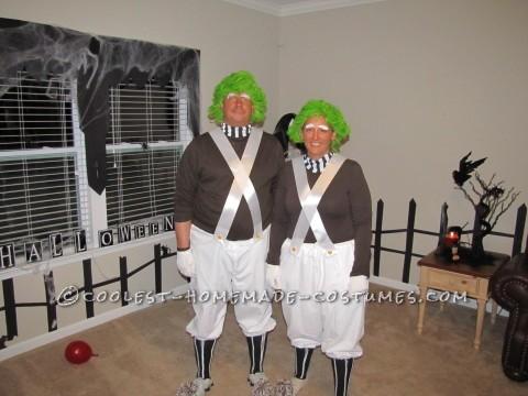 Coolest Homemade Oompa Loompa Couple Halloween Costume