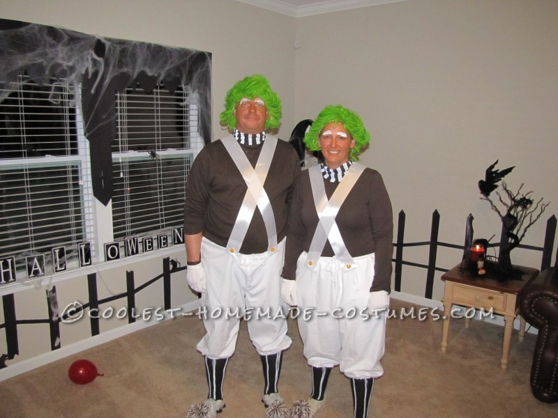 Coolest Homemade Oompa Loompa Couple Halloween Costume