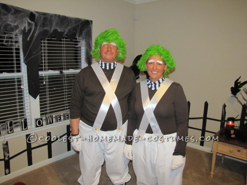 Coolest Homemade Oompa Loompa Couple Halloween Costume - 1