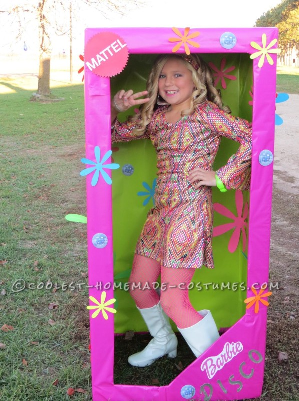 Coolest Homemade Costume For A Girl Disco Barbie In A Box