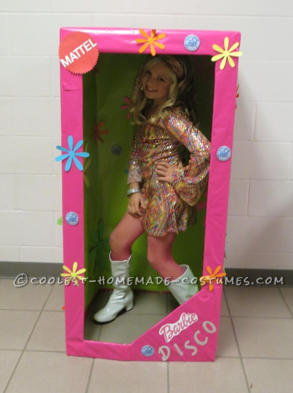 Coolest Homemade Costume for a Girl: Disco Barbie in-a-Box - 2
