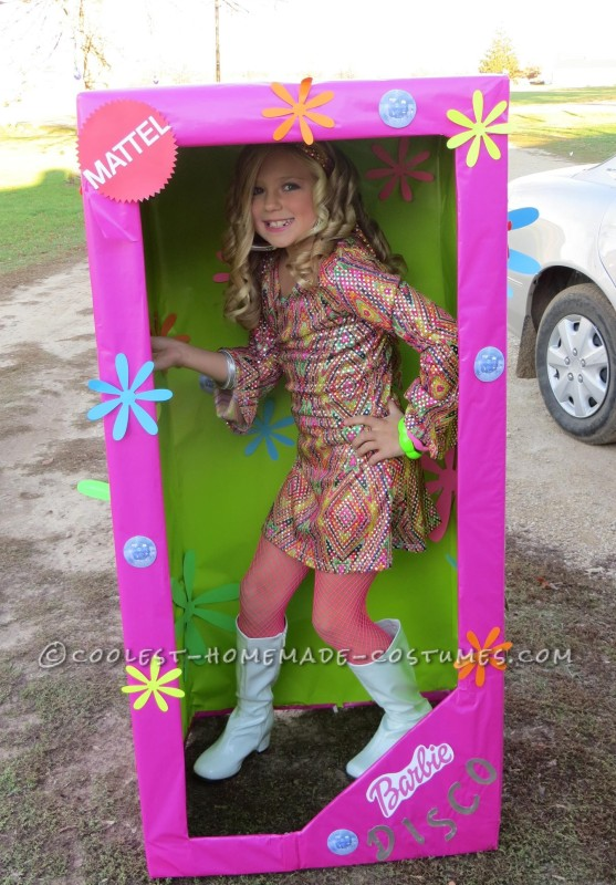 Coolest Homemade Costume for a Girl: Disco Barbie in-a-Box - 1