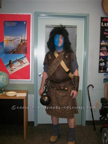 Coolest Homemade Braveheart Costume for a Man