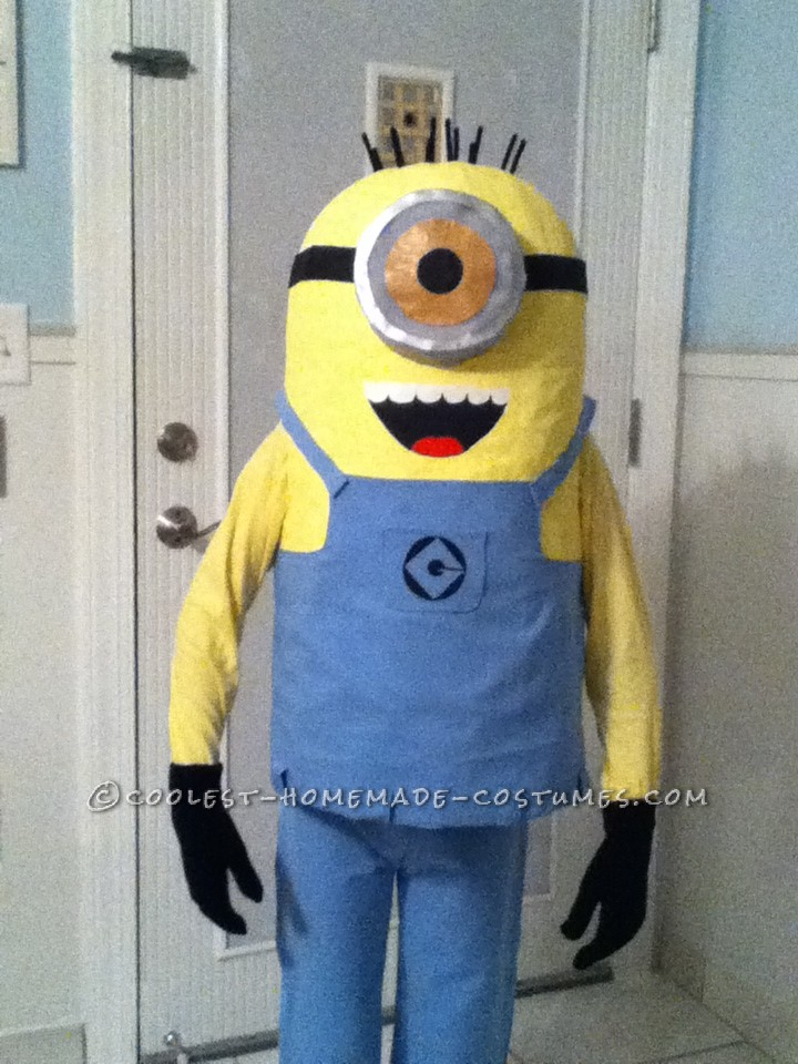 Coolest Homemade Minion Costume for a Boy