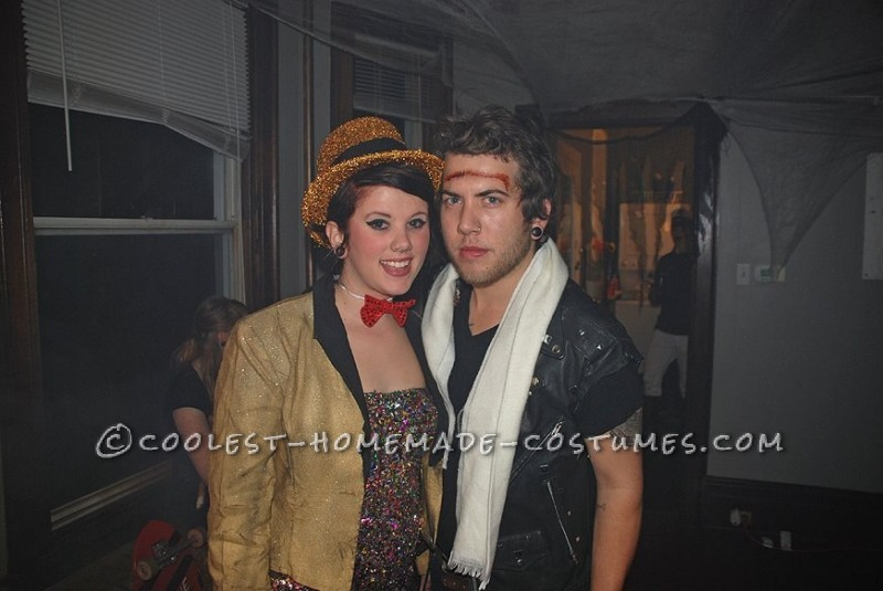 Coolest Rocky Horror Columbia and Eddie Couple Costume