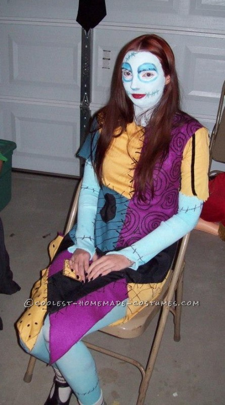 Coolest Homemade Sally from Nightmare Before Christmas Costume - 1