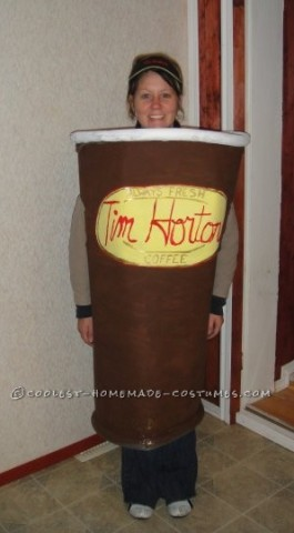 Coolest Tim Horton's Coffee Cup Costume