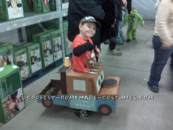 Coolest Homemade Tow Mater Truck Costume