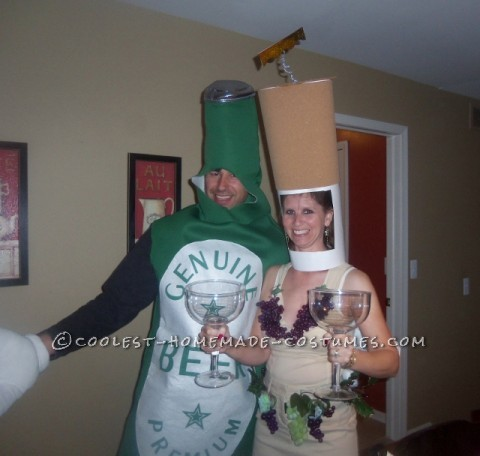 Beer and Wine Couple Costume Inspired by SNL Liquorville Sketch