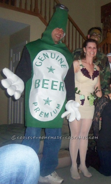 Beer and Wine Couple Costume Inspired by SNL Liquorville Sketch - 3