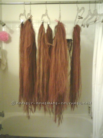 Cool Homemade Cousin Itt Costume for Halloween
