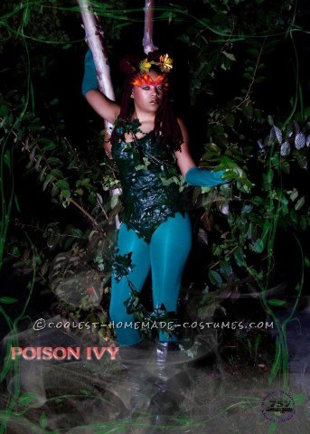 Homemade Woman's Poison Ivy Costume