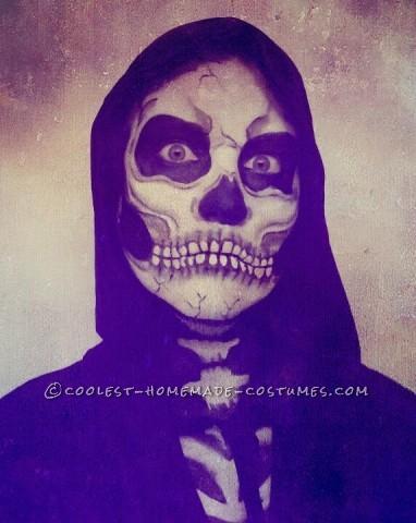 Creepy Skeleton Costume and Makeup