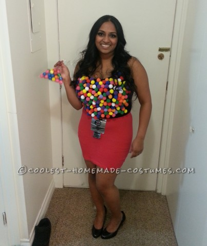 Cute Last-Minute Gumball Machine Costume