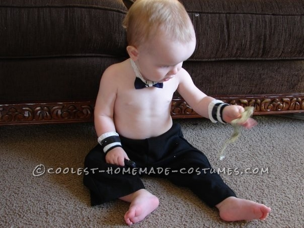 Cutest Last-Minute Chippendale Costume for a Baby
