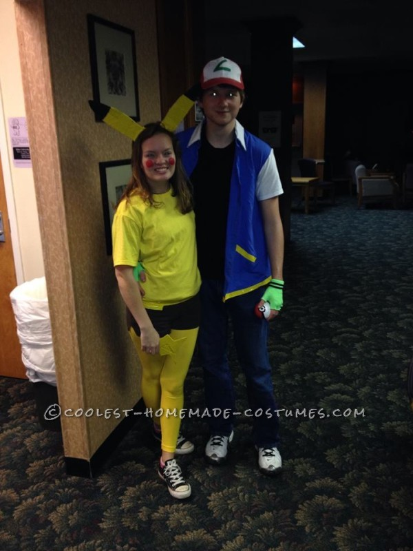 Cutest Couples Costume: Ash Ketchum and Pikachu