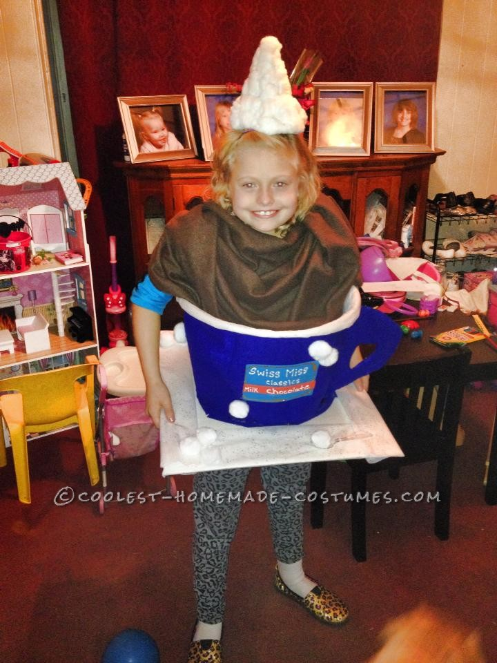 Cutest Homemade Hot Chocolate Costume Ever