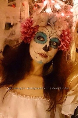 Cool Homemade Day of the Dead Couple Costume