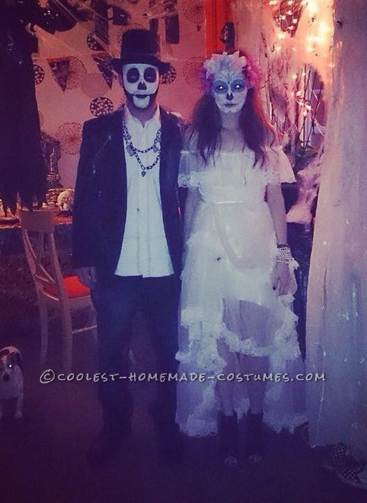 Cool Homemade Day of the Dead Couple Costume - 3