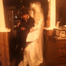 Dead Bride Carrying a Dead Groom in a Box Optical Illusion Costume